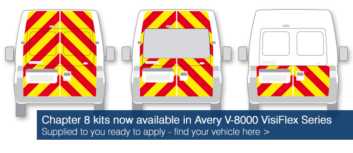 Chapter 8 vehicle kits now available in Avery V-8000