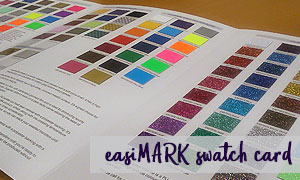 easiMARK swatch card
