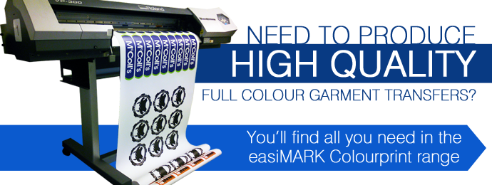 Full colour printed transfers with easiMARK Colourprint